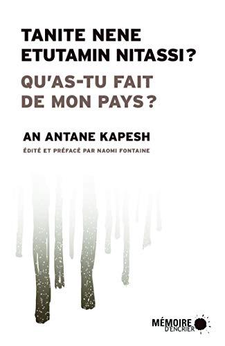 Qu'as-tu fait de mon pays?, un livre d'an antane Kapesh